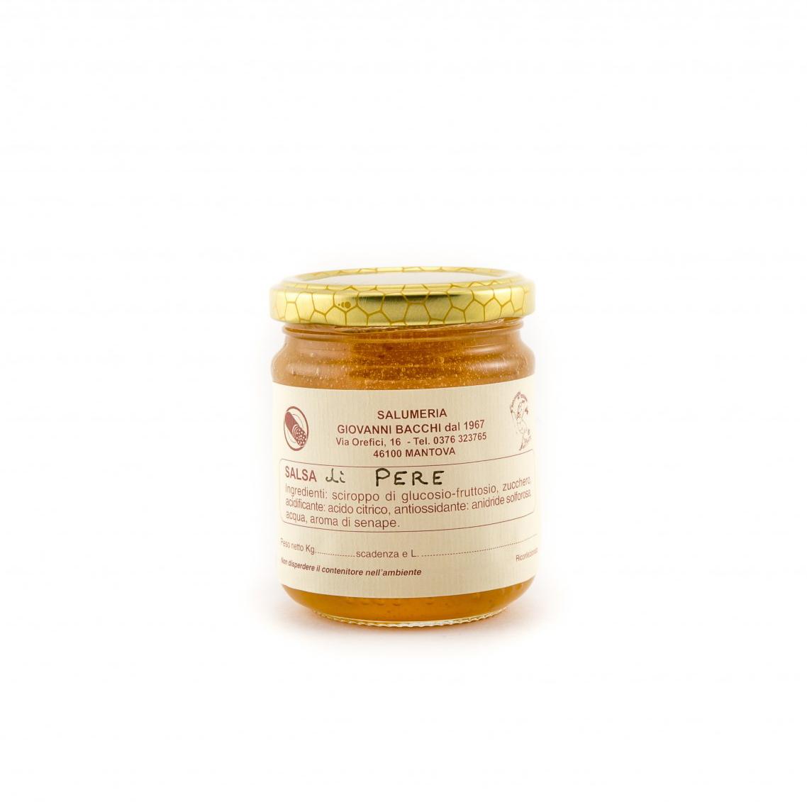 Mostarda di salsa di pere vaso di vetro 250 gr for Mostarda di pere mantovana