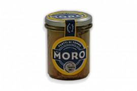 Filetti di tonno all'olio d'oliva MORO vaso di vetro 190 gr. sgocciolato 130 gr