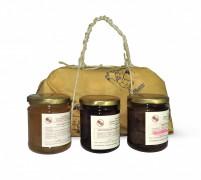 Pacco regalo mostarda di zenzero-fragoline e frutti di bosco-castagne