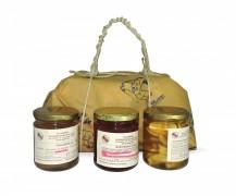 Pacco regalo mostarda mele campanine Nonna Vally-ciliegie-pere