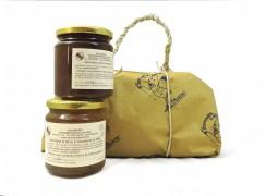 Pacco regalo con mostarda viadanese di pere e mostarda zucca e melone.